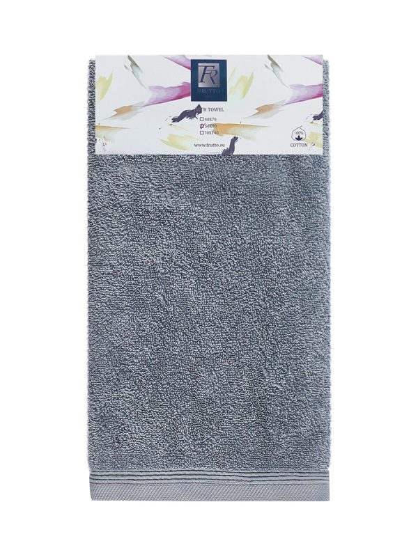 Jednobarevný ručník FRH105 – tmavě šedá – 50 x 90 cm Antracitová