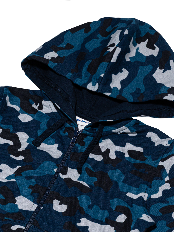 Chlapecká mikina Camouflage NAVY Navy