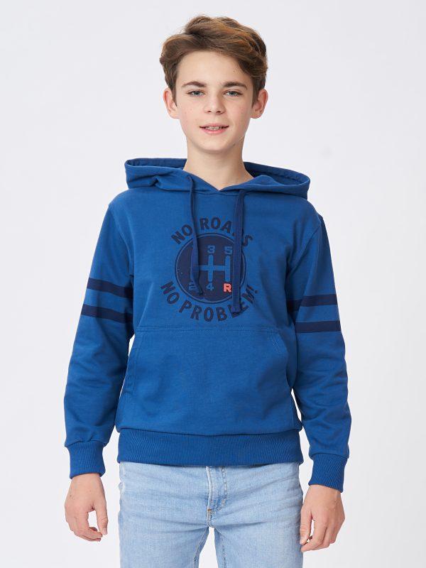Chlapecká mikina s kapucí Future Tmavě modrá