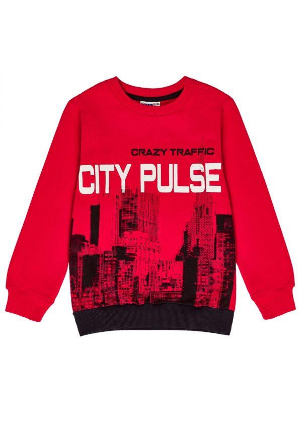 Chlapecká mikina City Pulse Červená