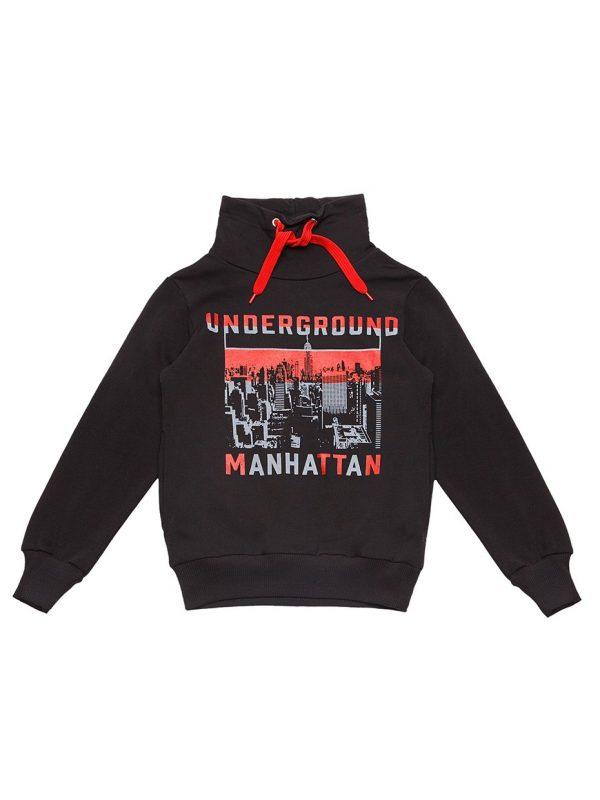 Chlapecká mikina Manhattan Černá