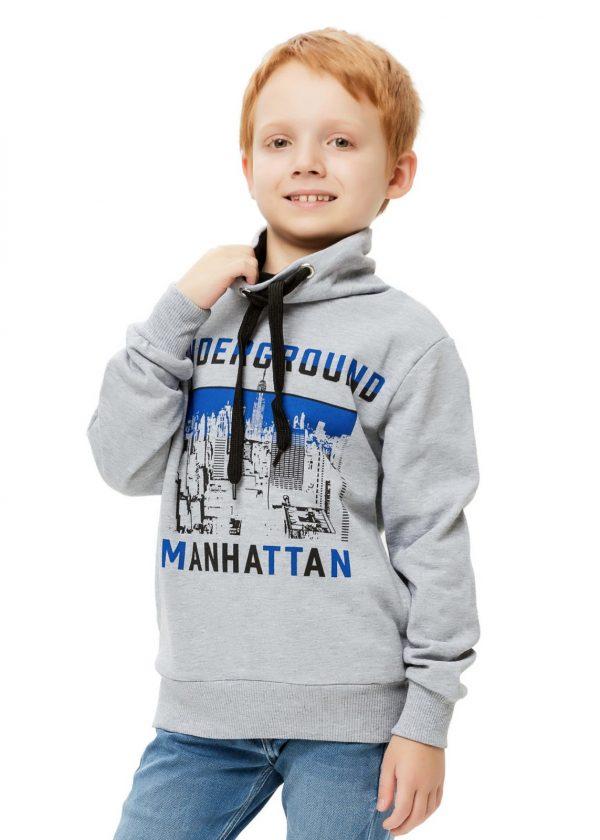 Chlapecká mikina Manhattan Šedý melanž