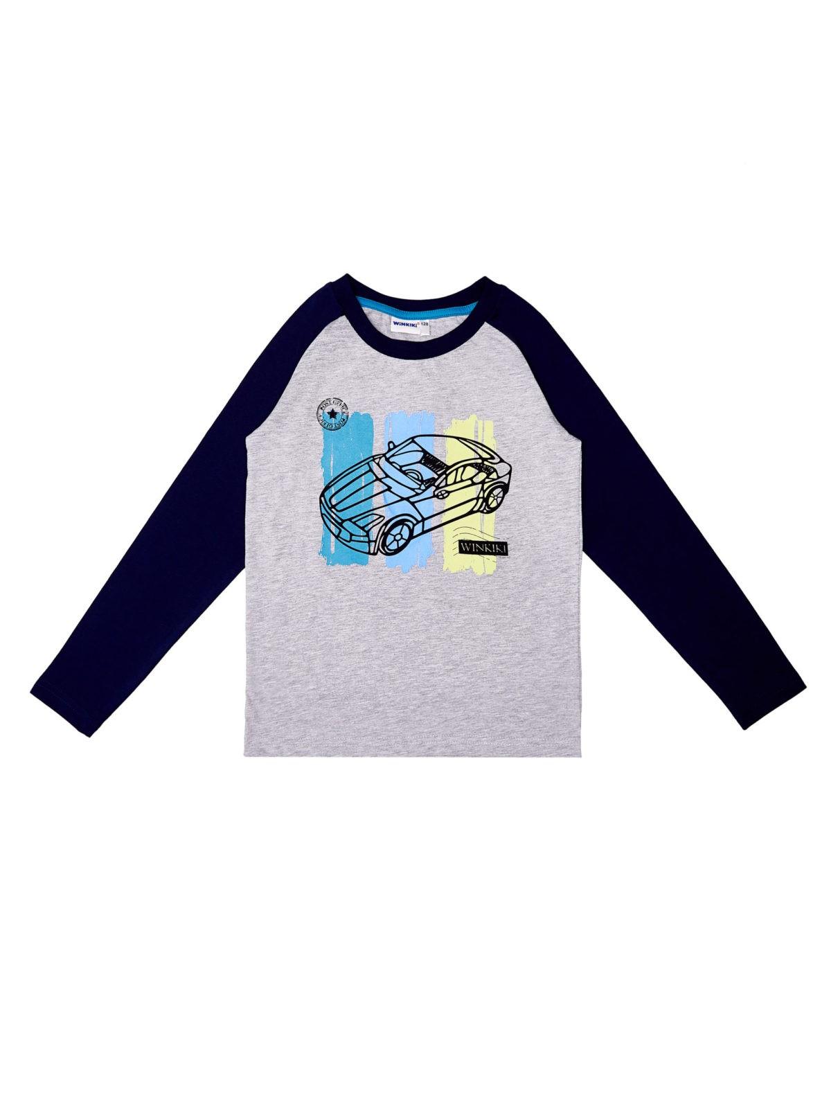 Chlapecké pyžamo Car Navy/Světle-šedý melanž