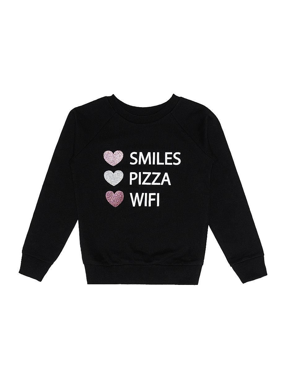 Dívčí mikina Smiles Černá