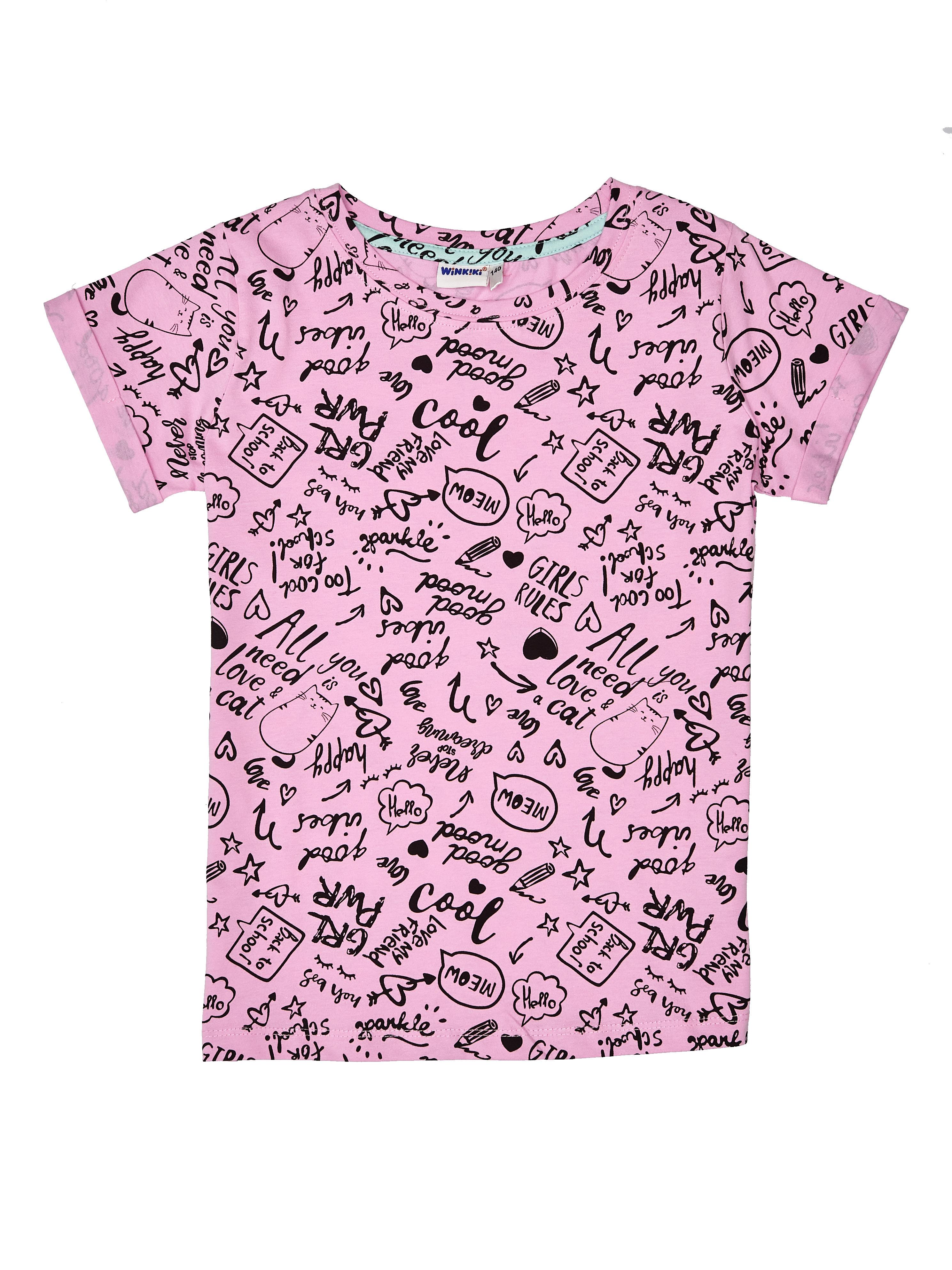 Dívčí tričko Good Mood Růžová