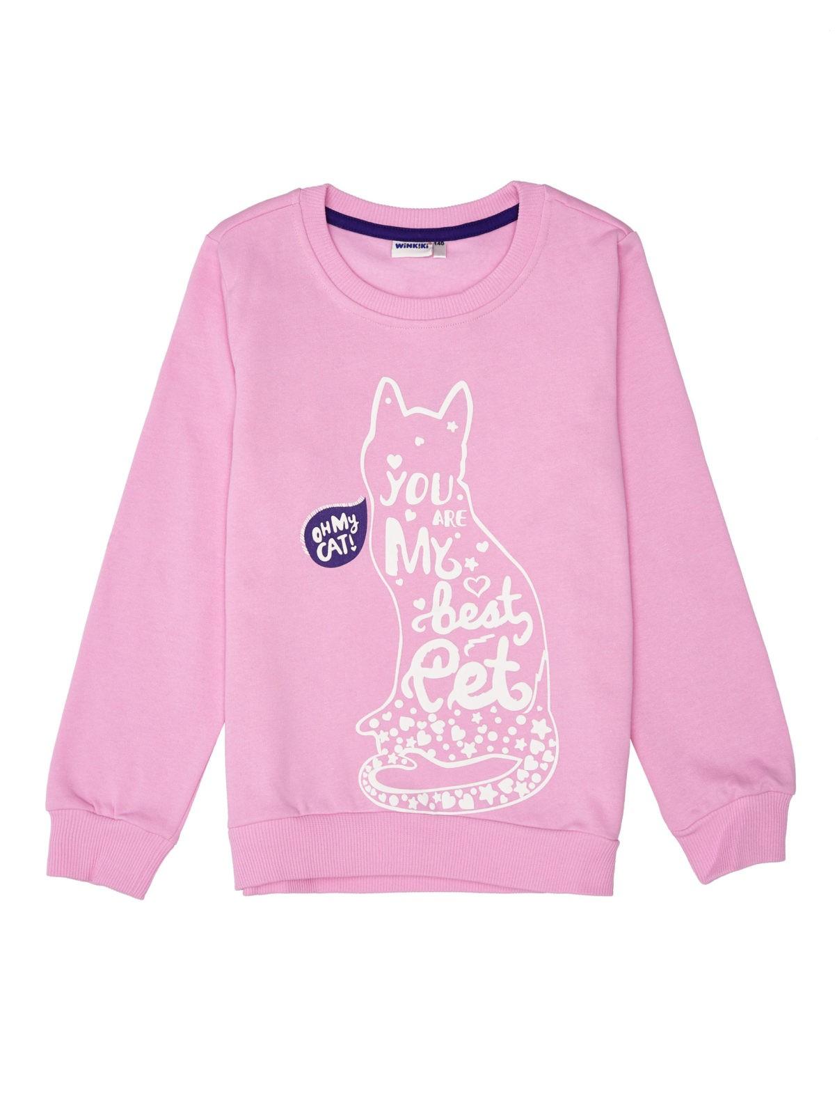 Dívčí mikina Best Pet Růžová