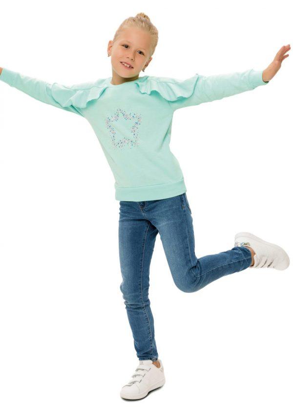 Dívčí mikina Star Mátová