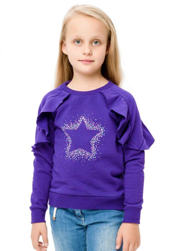 Dívčí mikina Star Fialová