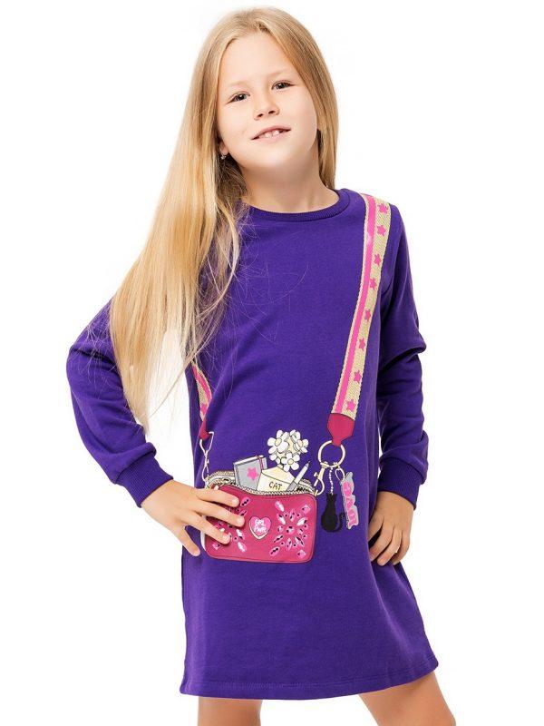 Dívčí šaty Love Fialová