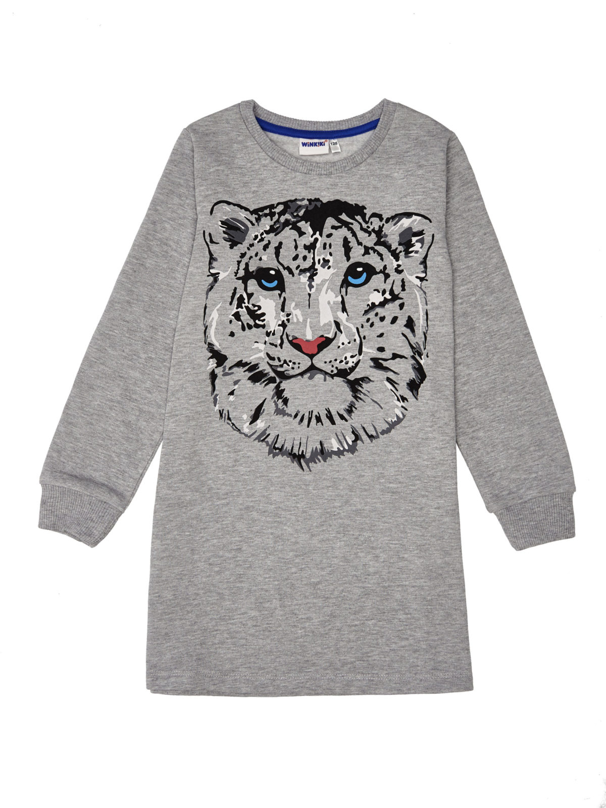 Dívčí šaty Cat Power Světle-šedý melanž