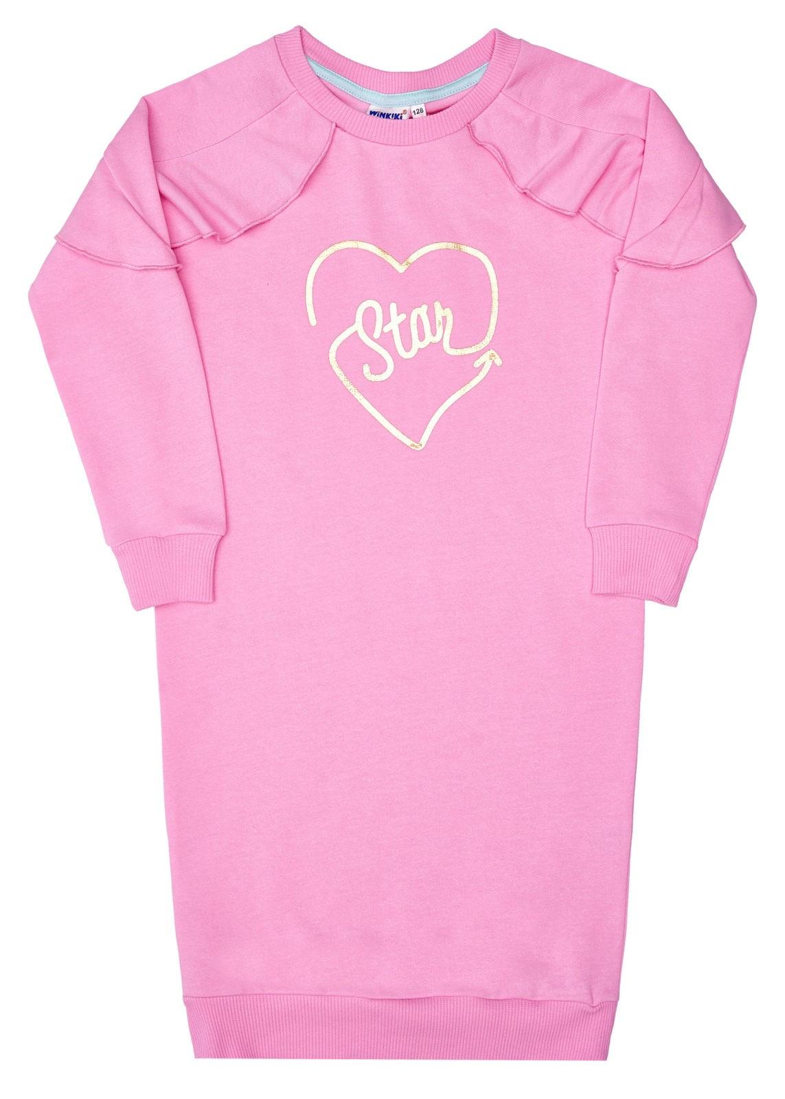 Dívčí šaty Star Růžová