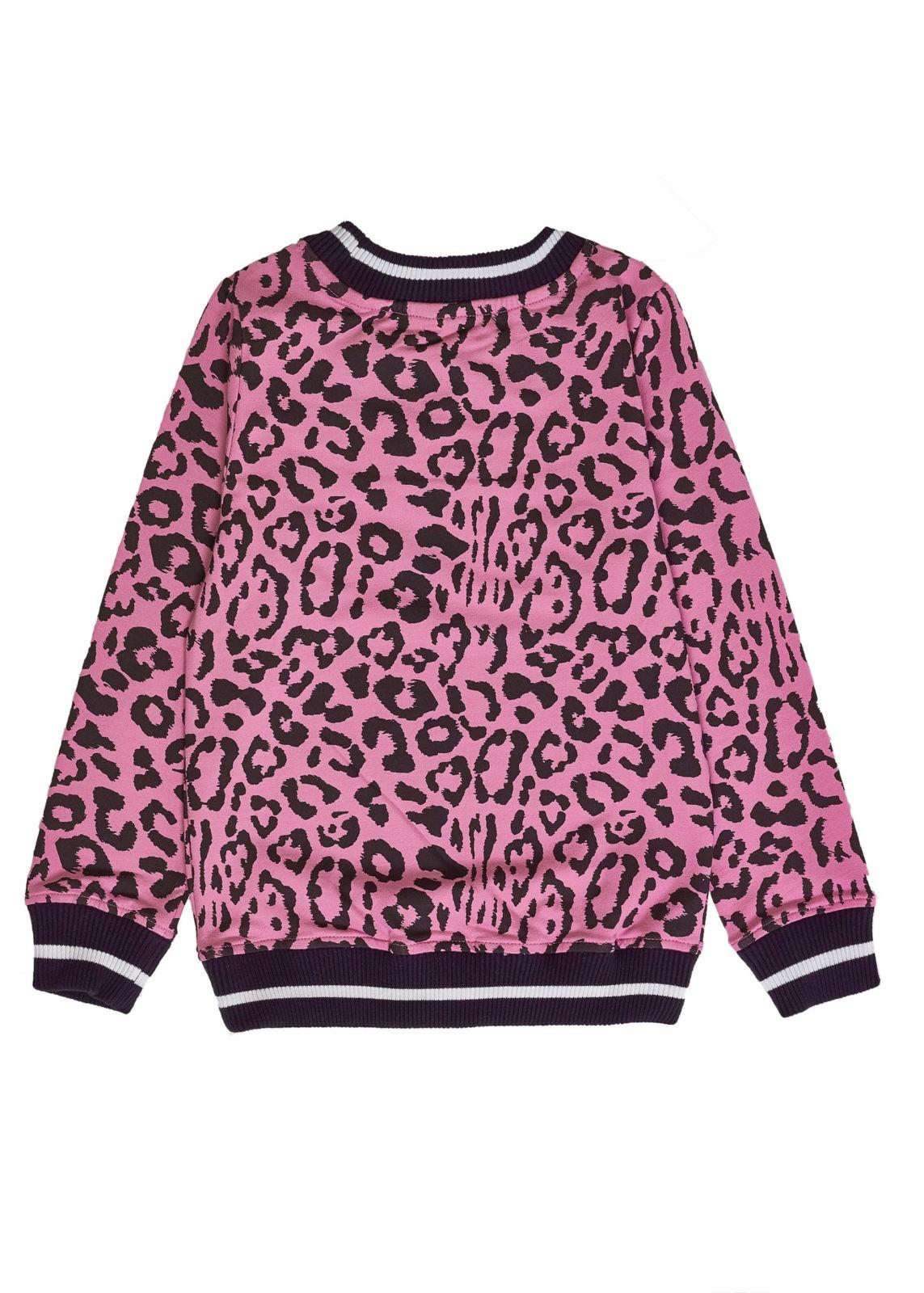 Dívčí mikina Leopard Růžová