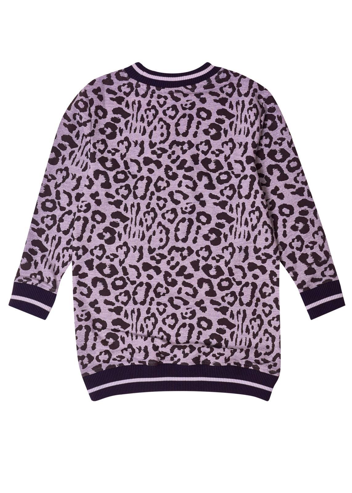 Dívčí šaty Leopard Šedý melanž