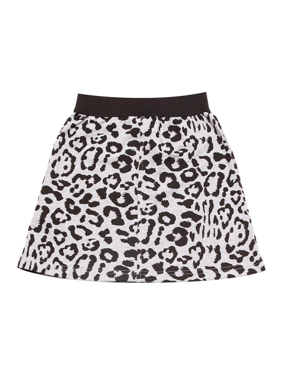 Dívčí sukně Leopard Šedý melanž