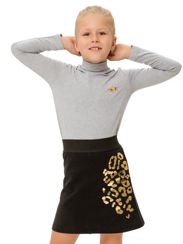 Dívčí sukně Leopard Černá