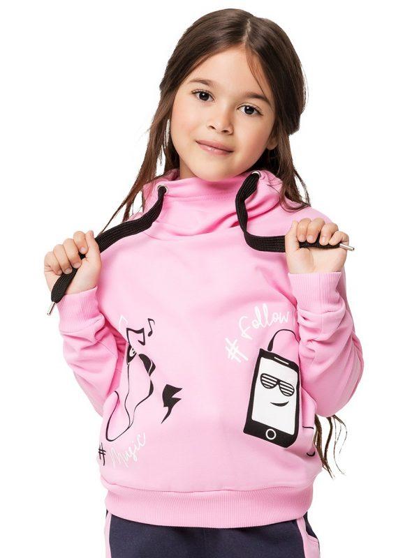 Dívčí mikina Music Růžová