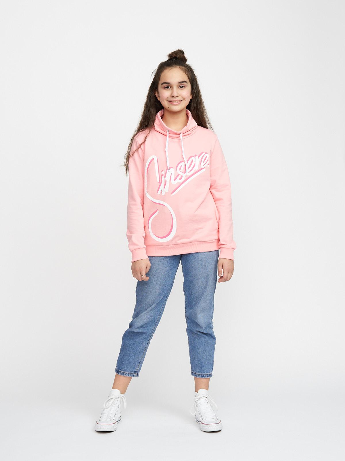 Dívčí mikina Sinsere Tmavě-růžová