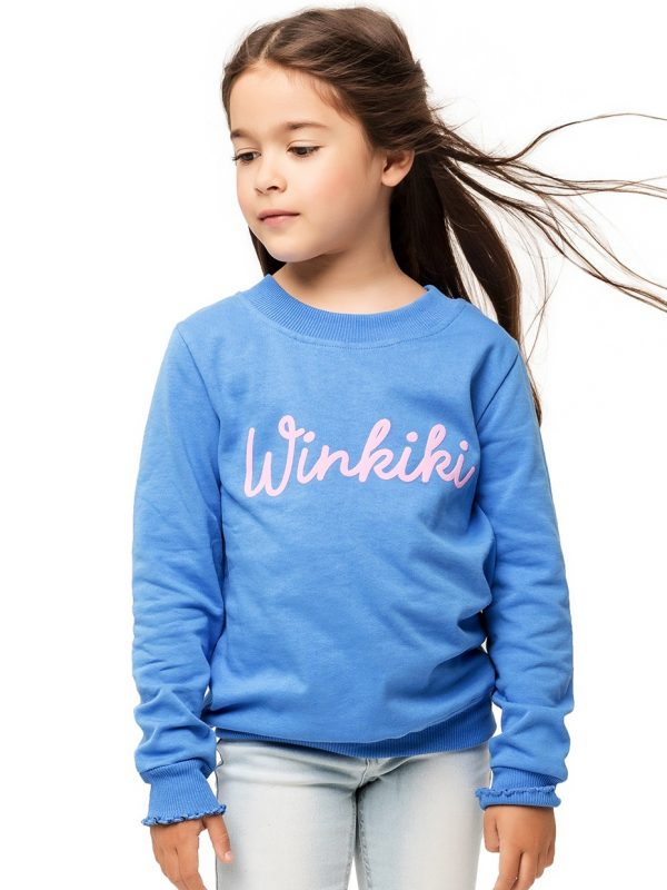 Dívčí mikina Winkiki Modrá