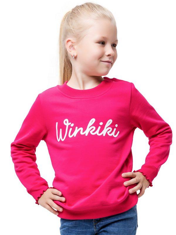 Dívčí mikina Winkiki Malinová