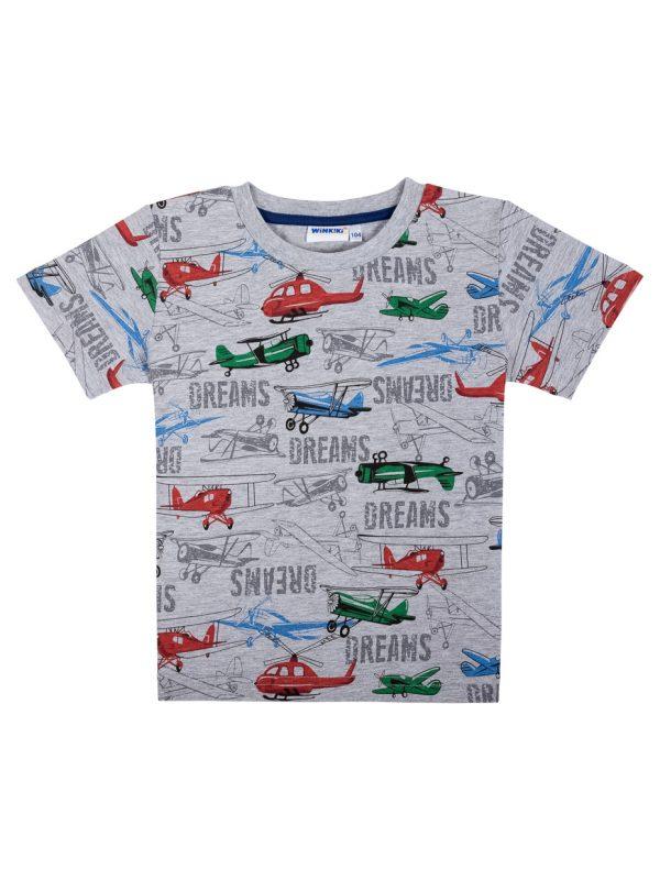 Chlapecké tričko Dreams Šedý melanž