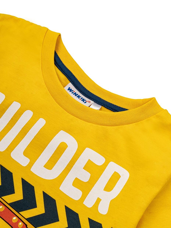 Chlapecké tričko Builder Žlutá