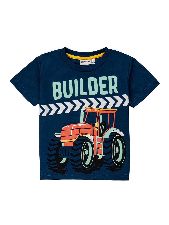 Chlapecké tričko Builder Tmavě modrá