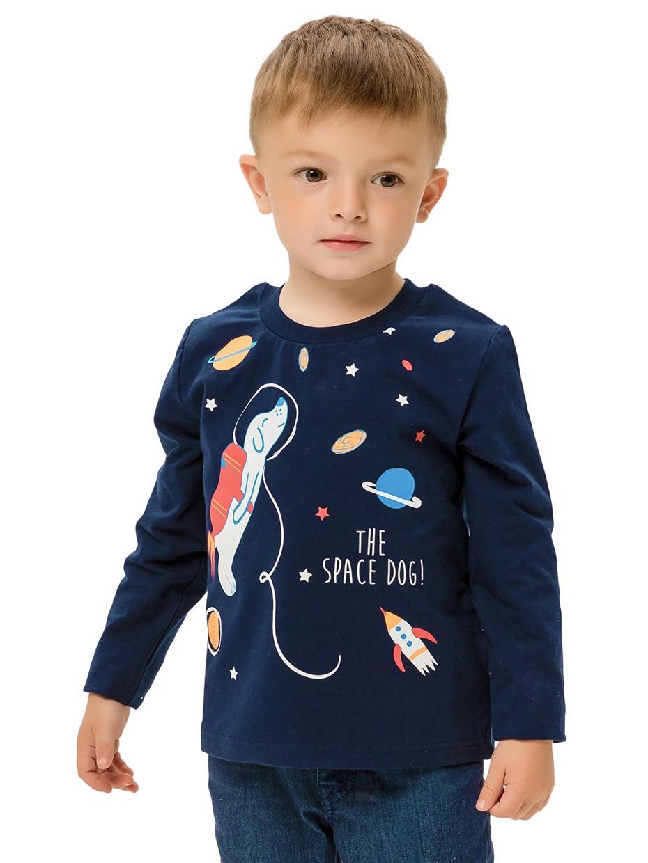 Tričko s dlouhým rukávem Space Dog Navy