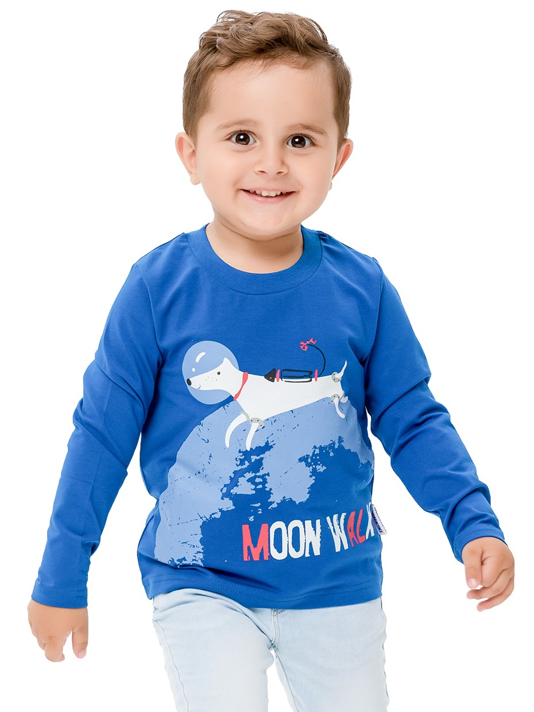 Tričko s dlouhým rukávem Moon Walk Tmavě modrá