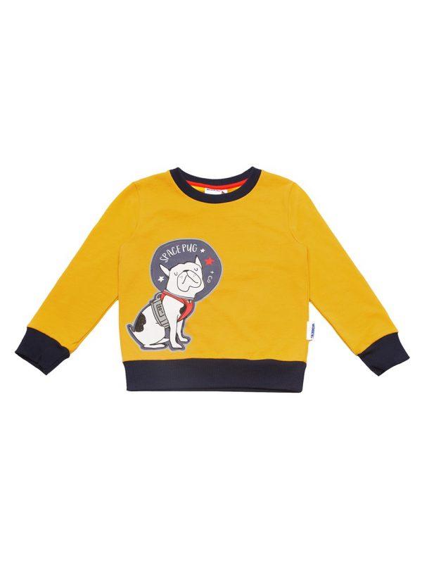 Chlapecká mikina Space Pug Žlutá