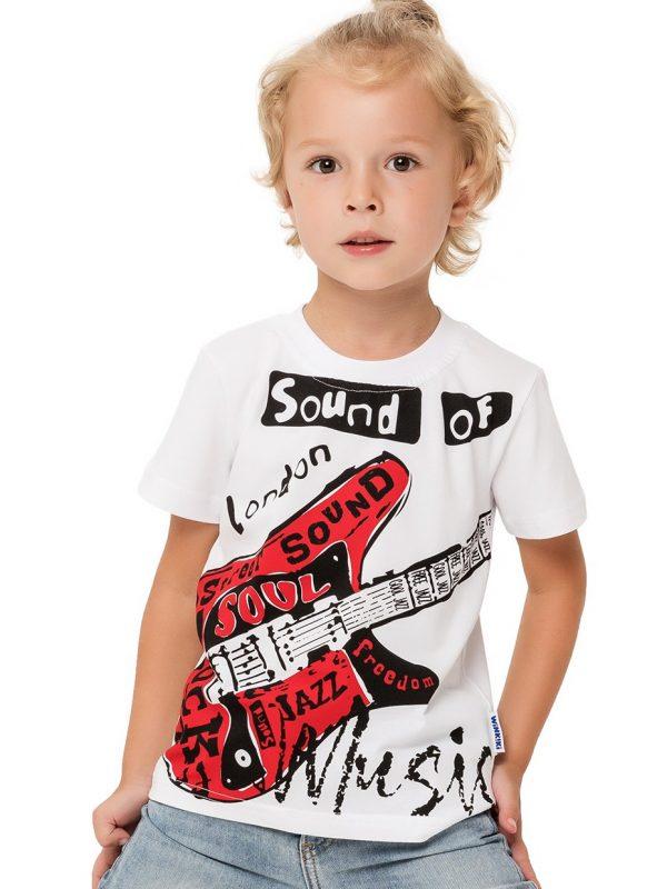 Chlapecké tričko Music Bílá