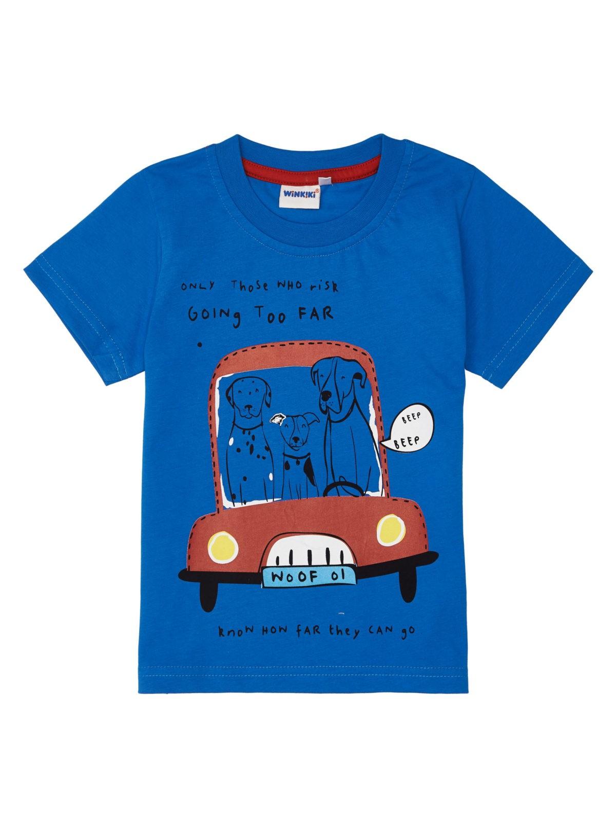 Chlapecké tričko Travel Modrá