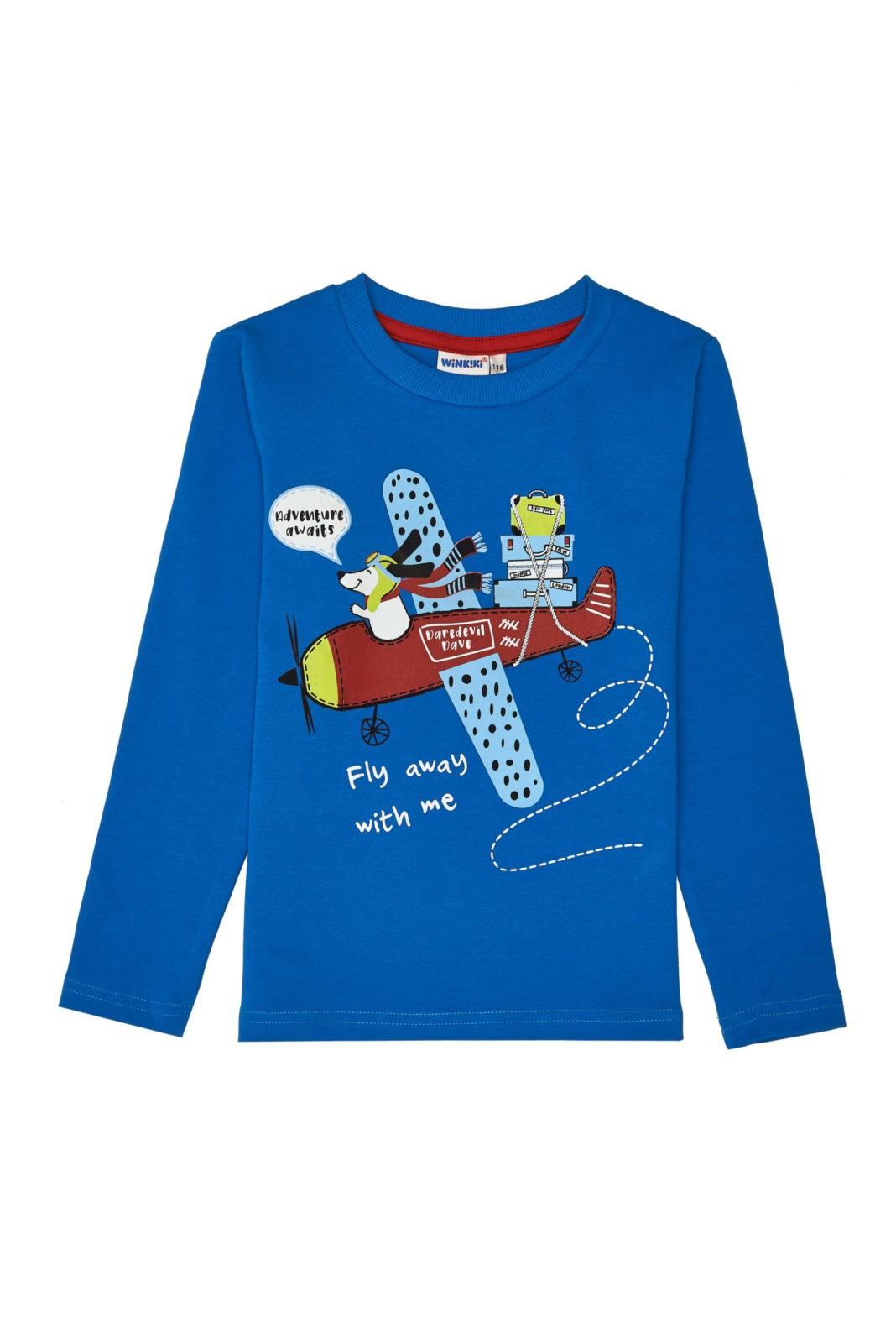 Chlapecké tričko Fly with Me Modrá