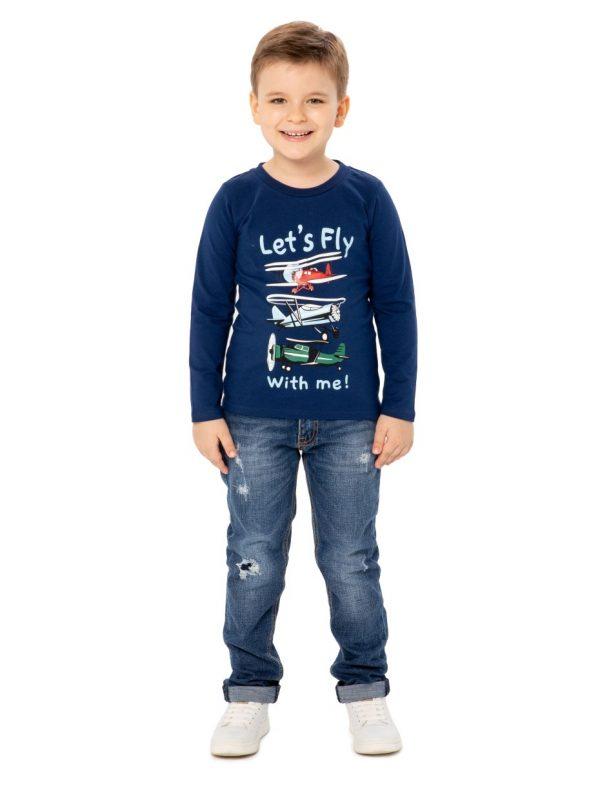 Chlapecké tričko Let's Fly Tmavě modrá