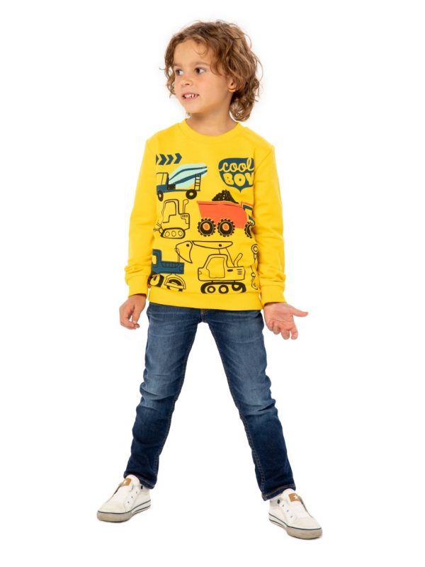Chlapecká mikina Builder Žlutá