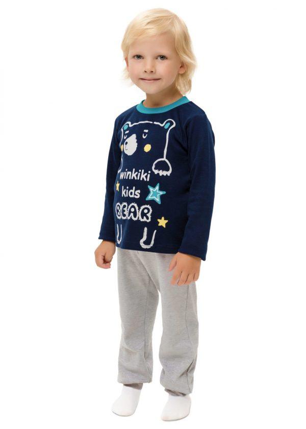 Chlapecké pyžamo Winkiki Navy/Šedý melanž
