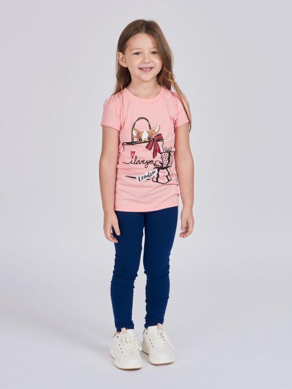 Dívčí tričko London Růžová