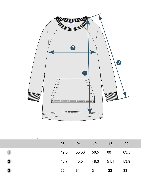 Dívčí šaty Blessed Navy