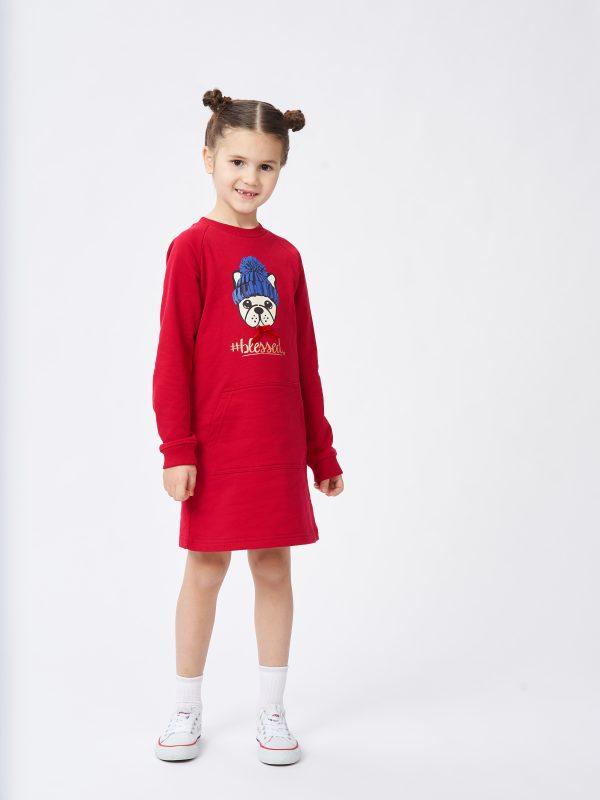 Dívčí šaty Blessed Malinová