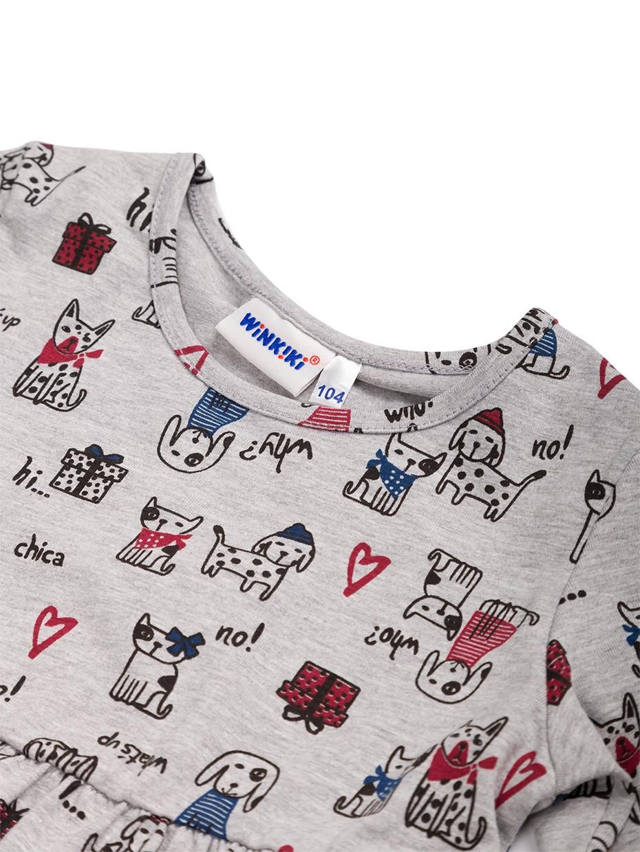 Dívčí šaty Animals Šedý melanž