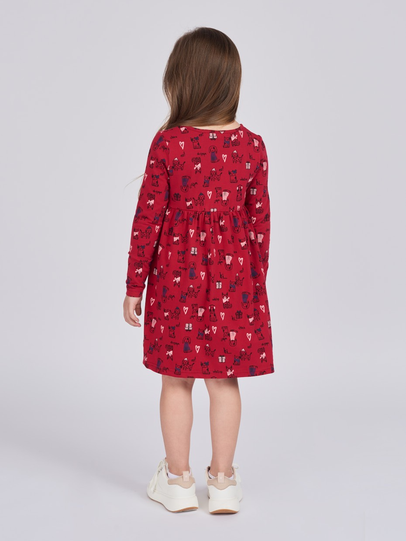 Dívčí šaty Animals Malinová