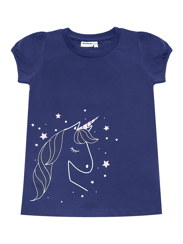 Dívčí tričko Unicorn Navy