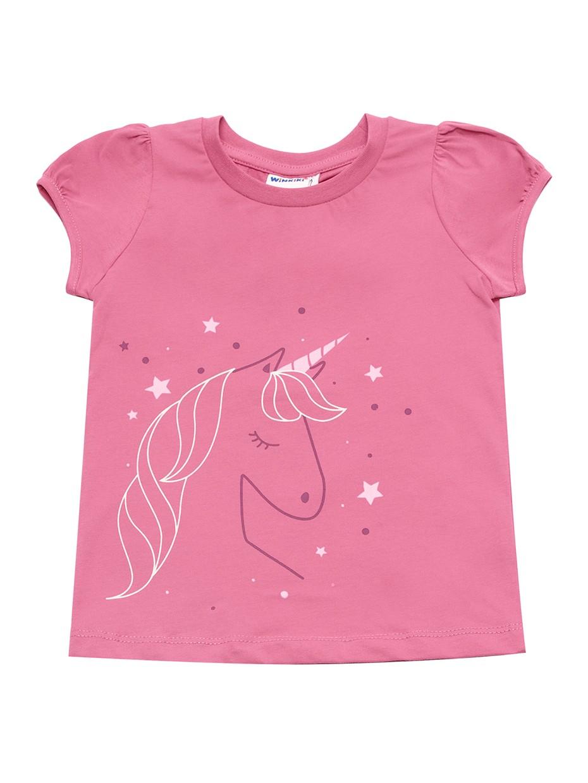 Dívčí tričko Unicorn Růžová