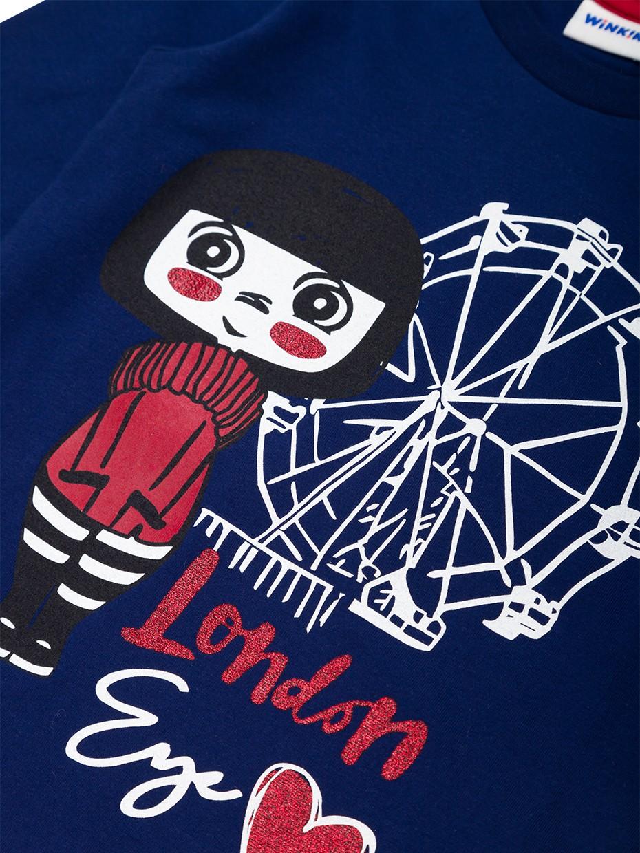Dívčí tričko London Girl Navy