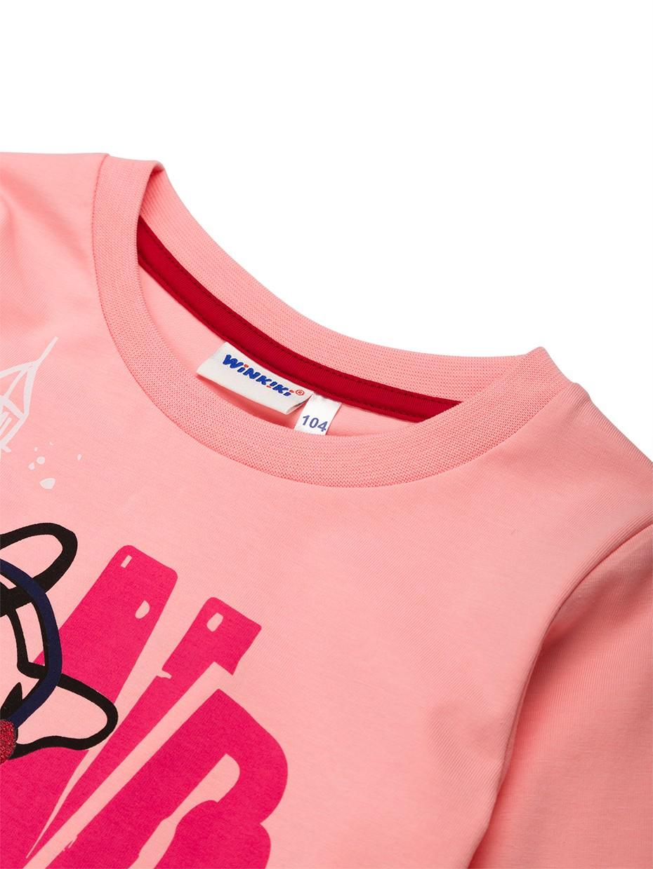 Dívčí tričko London Girl Růžová