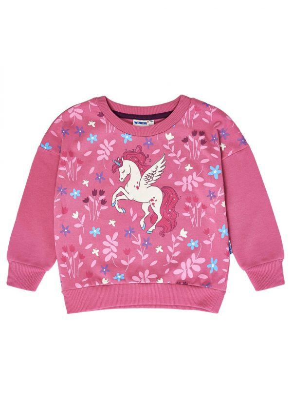 Dívčí mikina Unicorn Růžová