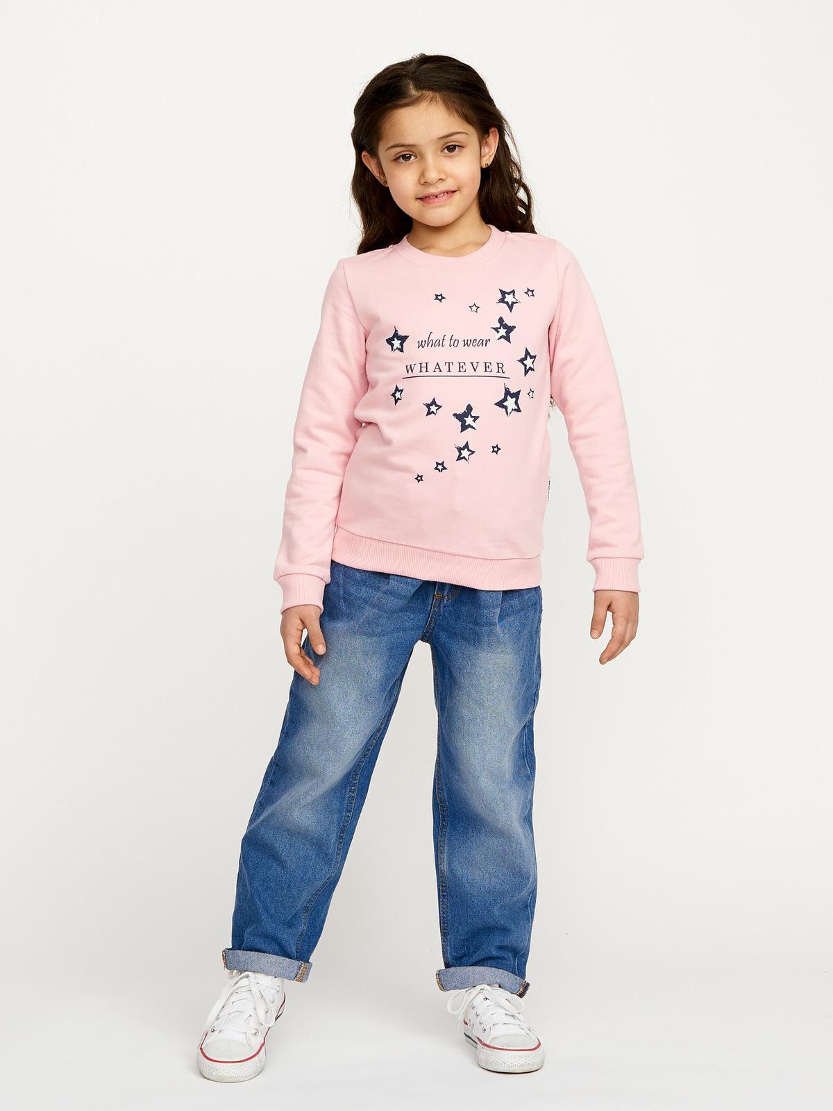Dívčí mikina Stars Růžová