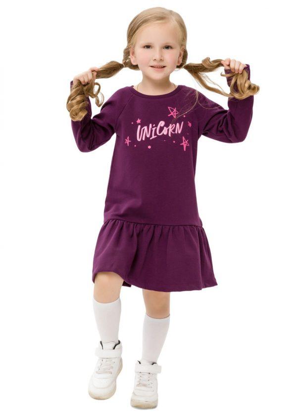Dívčí šaty Unicorn Fialová