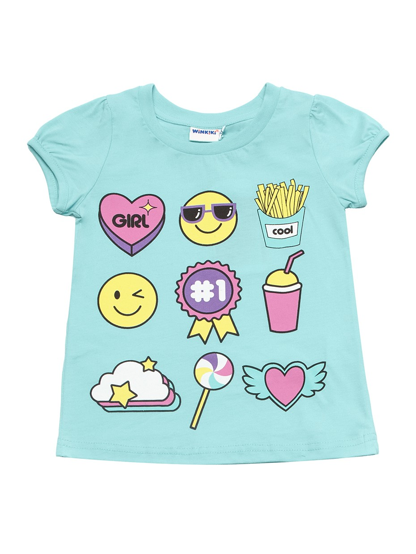 Dívčí tričko Symboly Mátová