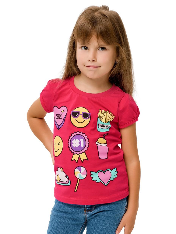 Dívčí tričko Symboly Malinová
