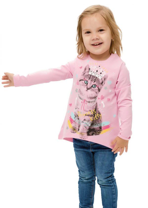 Dívčí tričko Princess Cat Růžová